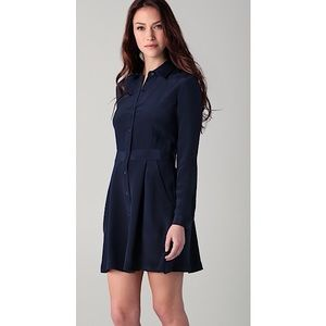 ❤️ Theory 'Soream' Long Sleeve Shirt Dress